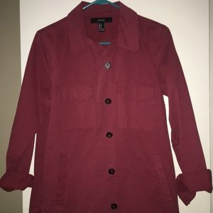 Thick reddish jacket